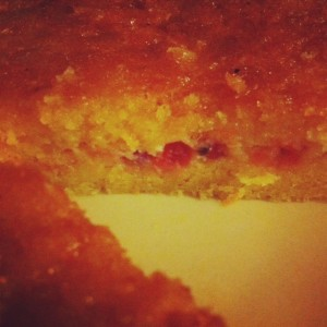 Dietitian UK: Orange and Redcurrant Polenta Cake