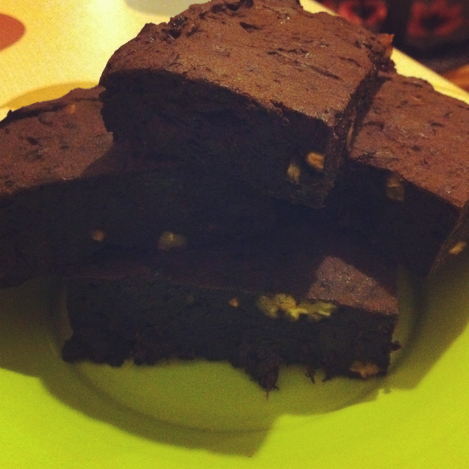 Carob and Prune Brownies.