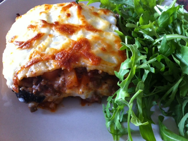 Gluten Free Lasagne, homemade including the pasta.