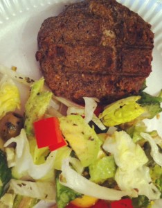 Dietitian UK: Mushroom and Bean Burgers cooked