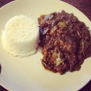 Dietitian UK: Aubergine curry and RiceDietitian UK: Aubergine curry and Rice