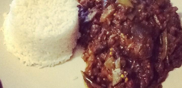 Aubergine Curry, gluten free, weaning friendly.