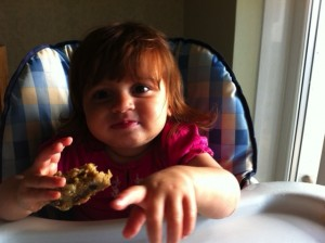 Dietitian UK: Toddler enjoys banana flapjack