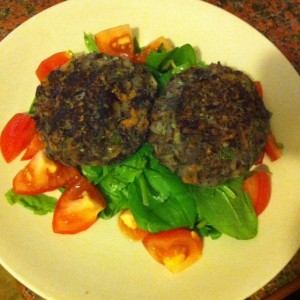Dietitian UK: Homemade Bean Burgers and Salad
