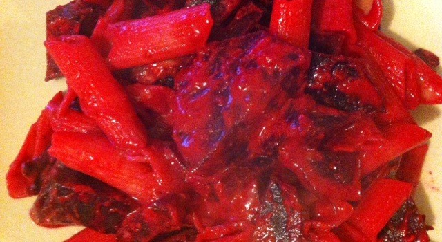 Roasted Beetroot Pasta, It's Pink!