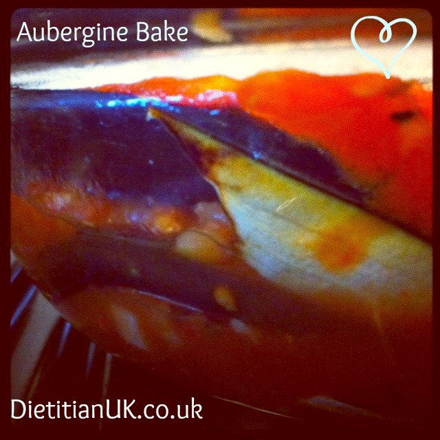 Aubergine Bake for an Aubergine Addict.