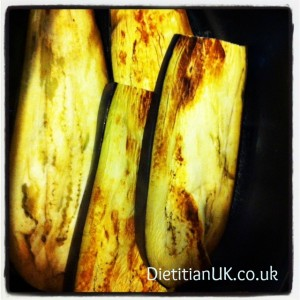 Dietitian UK:  Griddled Aubergines