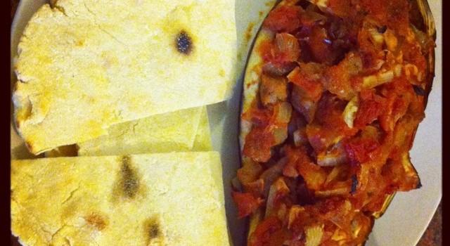 Imam Bayildi (Baked Aubergine Heaven) Gluten and Dairy free.