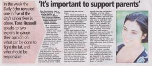 Priya in the Daily Echo March 2013