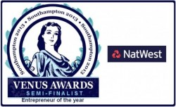 Semi-Finalist for Entrepreneur of the Year Venus Award, Southampton
