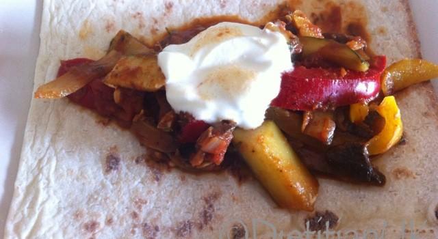 Dietitian UK: Vegetable Fajitas