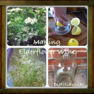 Dietitian UK: Making Elderflower Wine