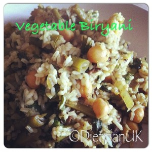 Dietitian UK: Vegetable Biryani