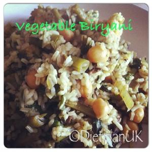 Dietitian UK: Vegetable Biryani