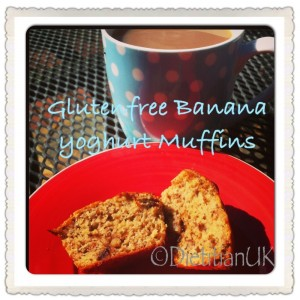 Dietitian UK: Healthy, Gluten Free, Banana and Yoghurt Muffins.