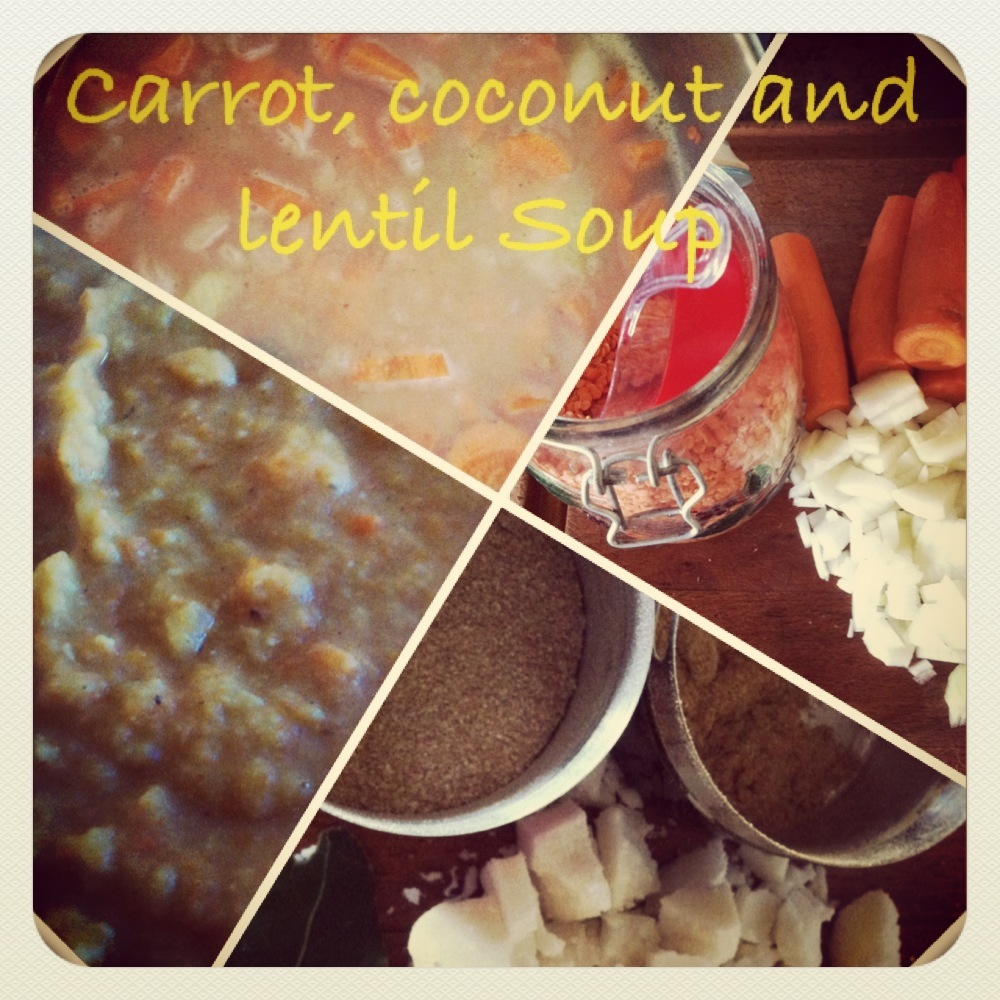Carrot, Lentil and Coconut Soup