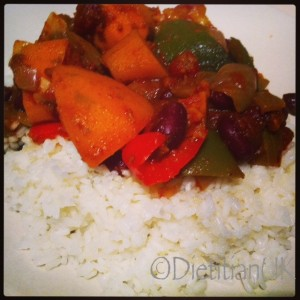 Dietitian UK: Sweet Paprika Veggie Chilli