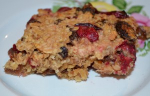 Dietitian UK: Healthy Cranberry and Orange Flapjack
