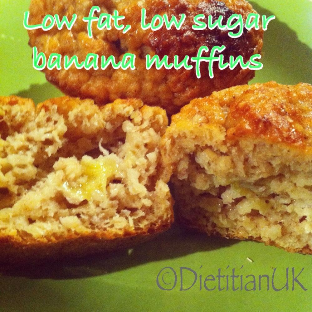 Dietitian UK: Low fat, low sugar banana muffins ...