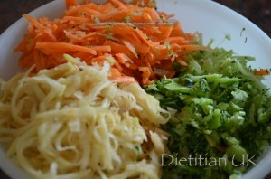 Dietitian UK: Grated Veggies