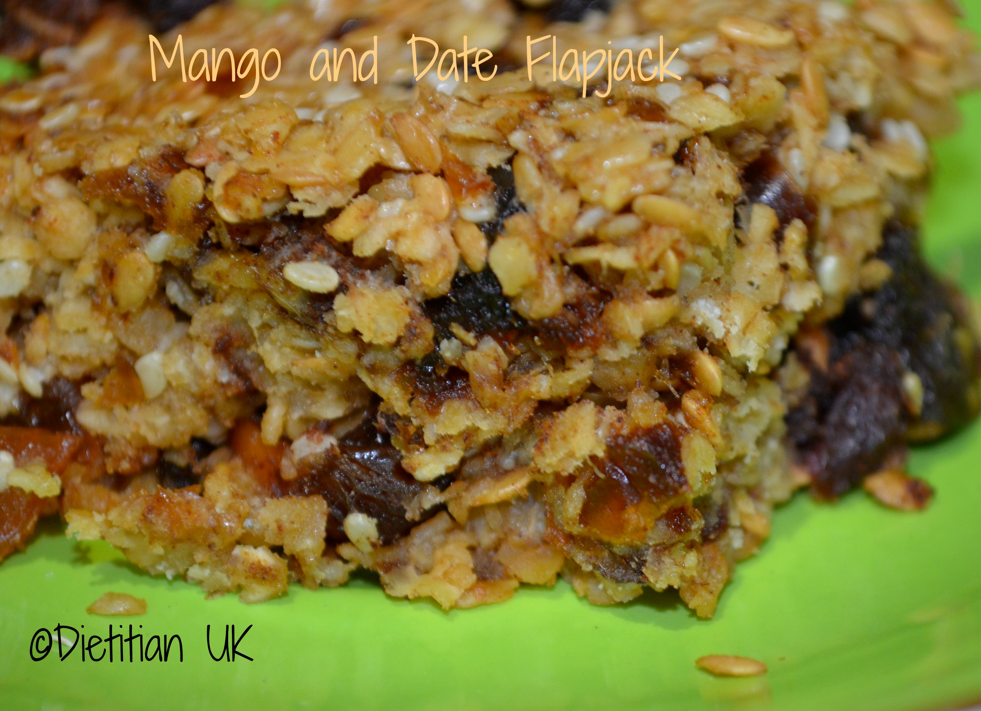 Mango and Date Flapjacks (gluten and wheat free)
