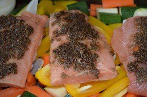 Dietitian UK: Spicy Salmon marinating.