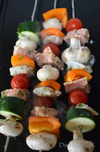 Dietitian UK: Fish Kebabs Cooking on the Griddle