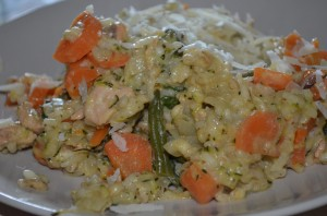 Dietitian UK: Salmon and Spring Vegetable Risotto