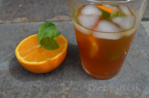 Dietitian UK: Iced Rooibos and Orange Tea