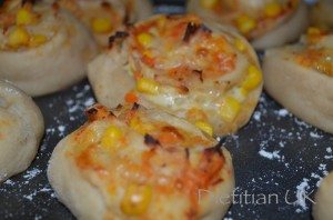 Dietitian UK: Pizza Pinwheels, gluten free