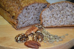 Gluten, wheat and dairy free nut and seed Bread 1