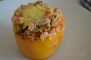 Dietitian UK: Stuffed Pepper in the Slow Cooker