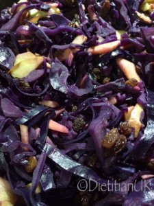 Dietitian UK: Red Cabbage with Apple and Sultanas 1