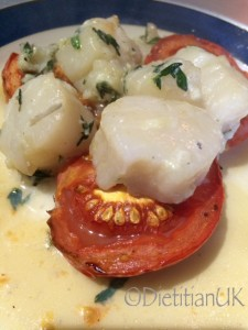 Dietitian UK: Scallops with garlic and thyme