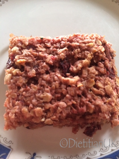 Dietitian UK: Plum Flapjack-1
