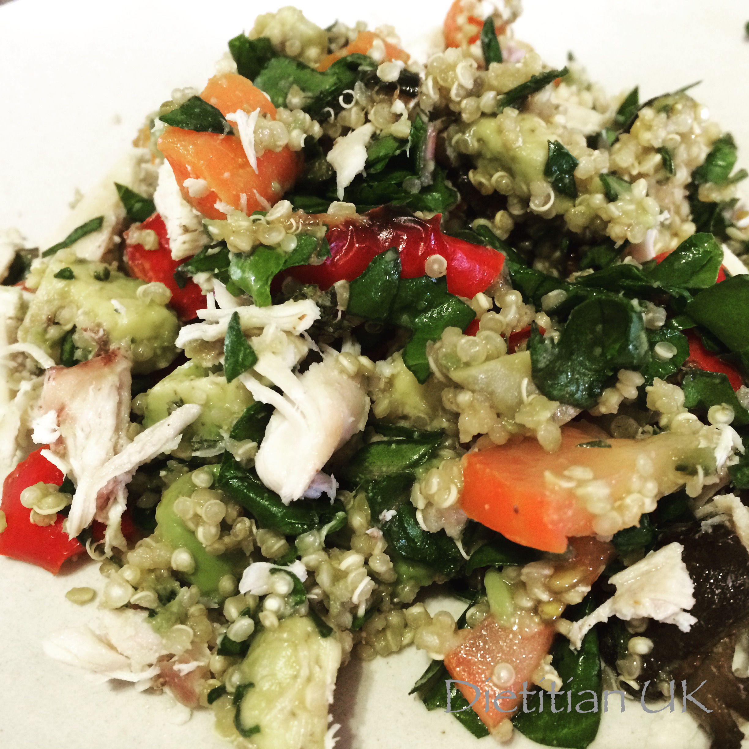 Dietitian UK: Chicken and Vegetable Quinoa Salad