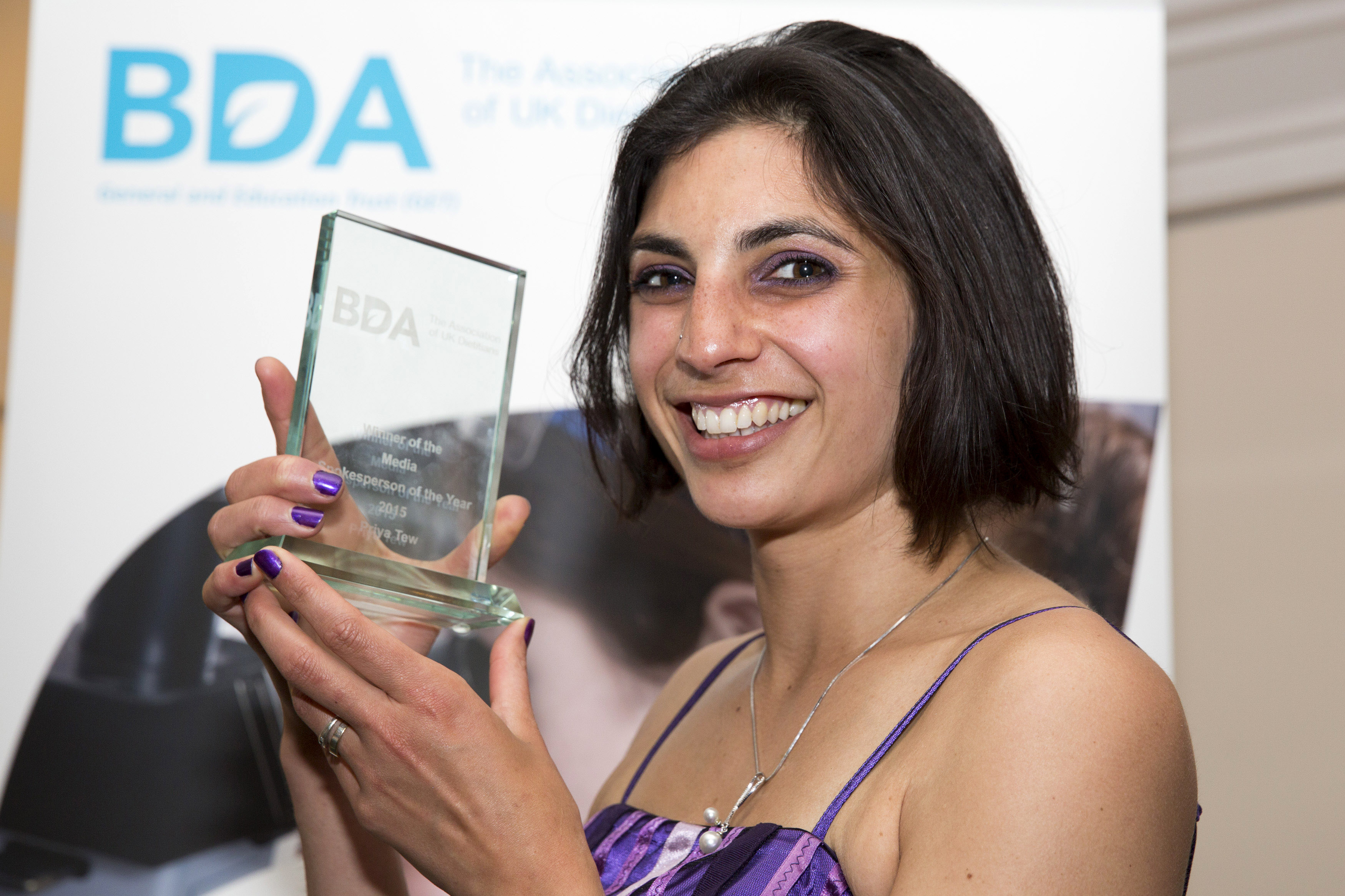 BDA Conference and Dinner 2015: winner of the media spokesperson of the year award, Dietitian UK