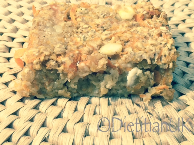 Dietitian UK: Carrot and Cheese Flapjack