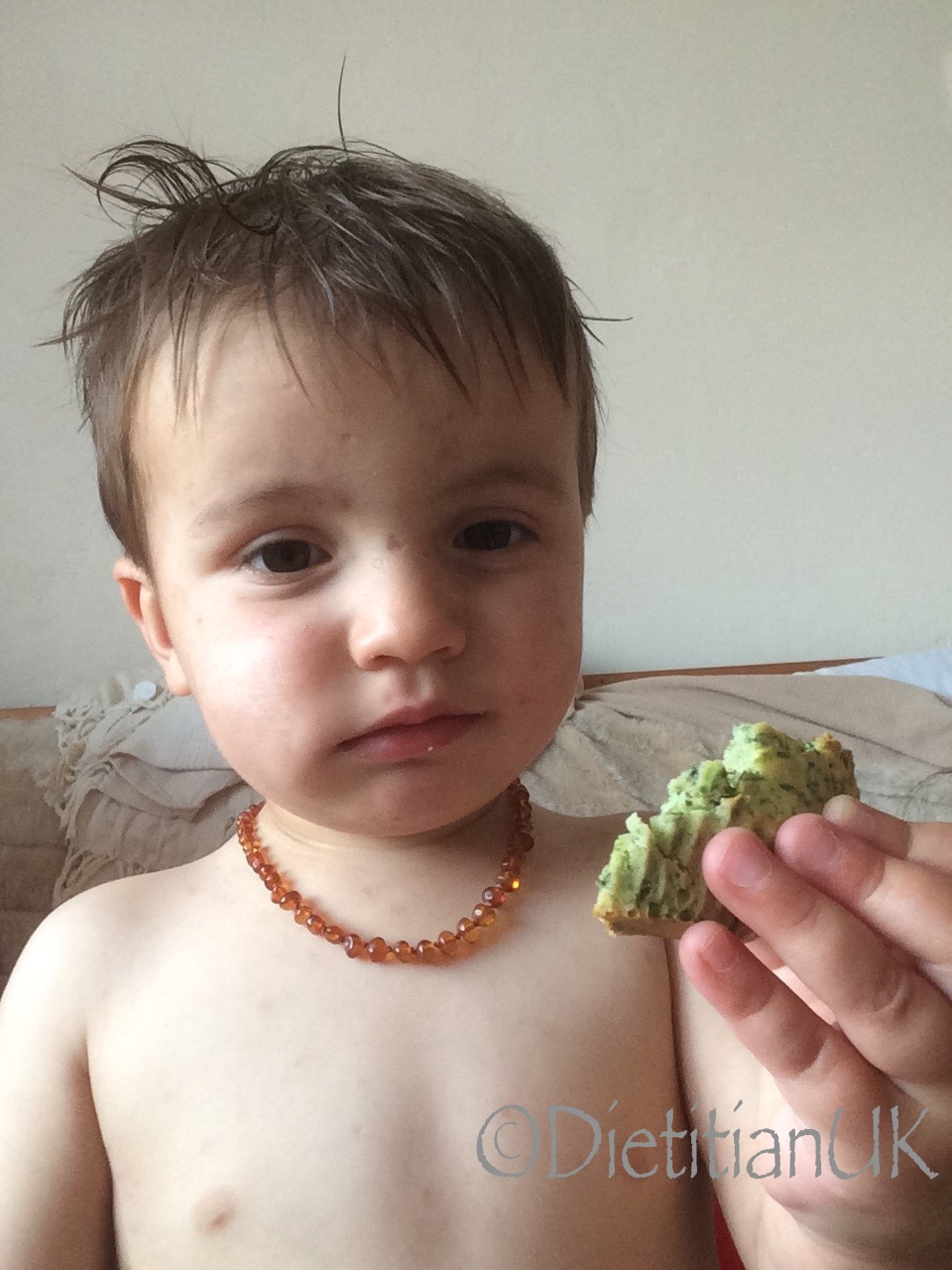 Dietitian UK: Jboy with Spinach Muffin