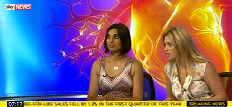 Priya talks about heart health on Sky News.