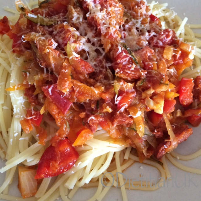 Dietitian UK: Vegetable Spaghetti Bolognaise