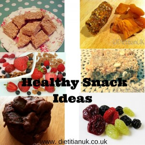 Dietitian UK: Healthy Snack Ideas collage