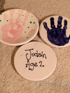 Pottery handprints