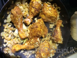 Chicken Tagine brown meat