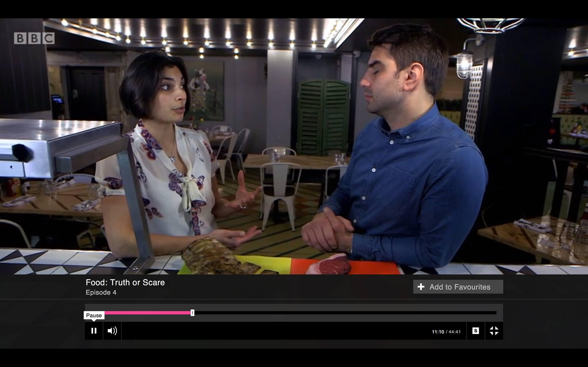 Priya stars on BBC1's Food Truth or Scare.