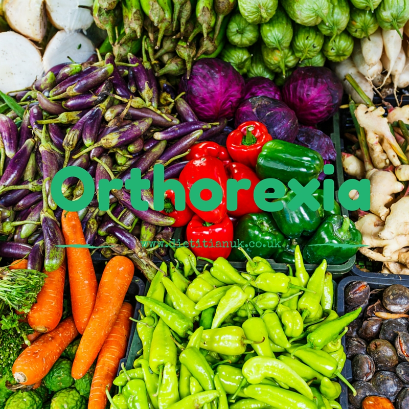 Orthorexia: when healthy eating is not healthy.
