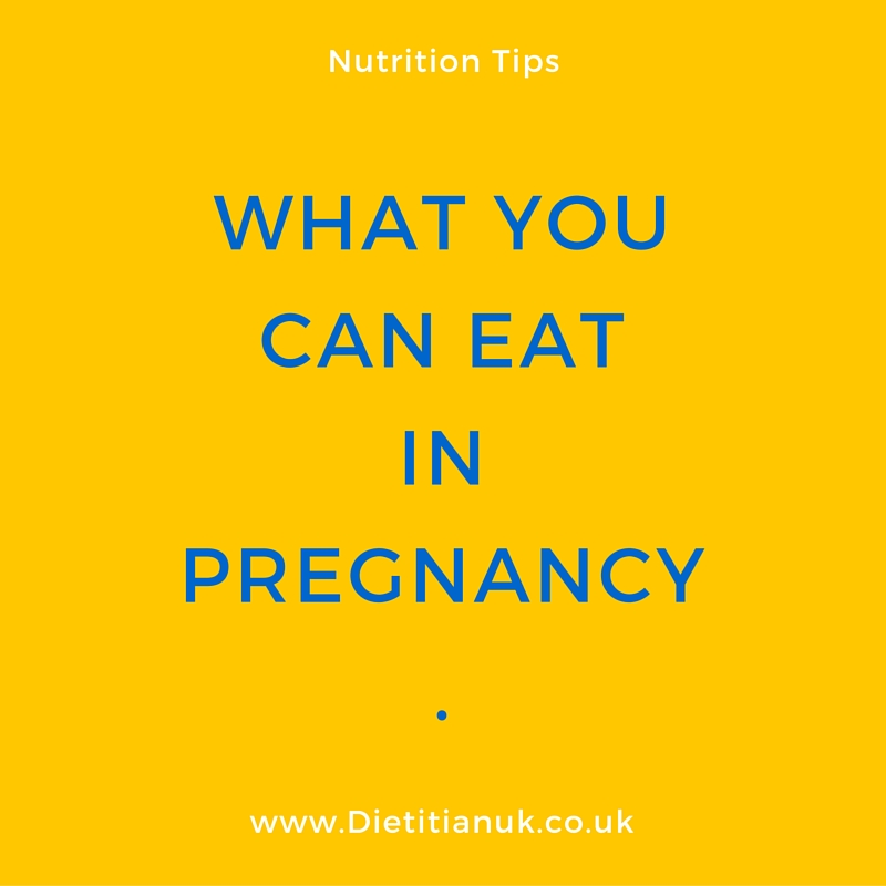 What you CAN eat in pregnancy.