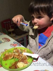 J boy eats lentil jackets