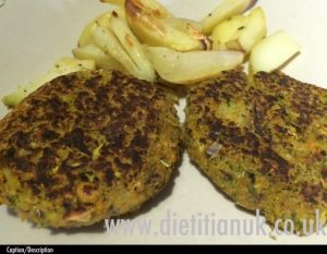 Dietitian UK: Courgette & Chickpea Burgers 1