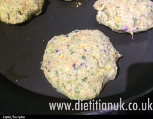 Dietitian UK: Courgette and Chickpea Burger 2